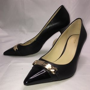 COACH Bowery Pointed-Toe Kitten Heel Pump Size 10